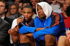 kevin durant kd russell westbrook okc thunder against fakers