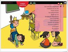 Actividades digitales del área de Lengua Española para 5º nivel de Educación Primaria pertenecientes al Proyecto Tren de Editorial La Galera.