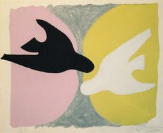"Braque, Georges ""Les Oiseaux"" 1961 Exhibition at the Grand Palais 06th January 2014"