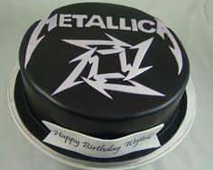 Metallica Themed Birthday Cake #Metalllica Cake
