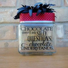 Custom candy jar Craft Projects Candy jars, Funny