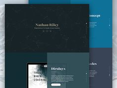 Personal Website (Live) by Nathan Riley for Green Chameleon