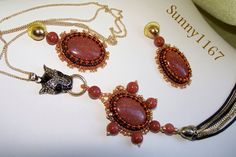 ART BEADS Semi Precious Gold Sand Sun Setara Earrings by Sunny1167, €60.00