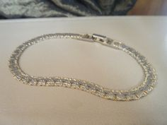 Unique Vintage Gold and Silver Tone (Two Tone) Flat Nugget Style Bracelet by DancingSunbeams on Etsy Unique Vintage, Fashion Bracelets, Bangles, Flat, Diamond, Silver, Gold, Etsy, Jewelry