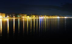 Vertical lines of light - Peraia, Thessaloniki