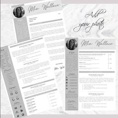 Professional Resume + Cover Letter Template Editable for MS Word - Curriculum Vitae - English CV with Fonts included - Resume Cover Letter Template, Cv Template, Letter Templates, Resume Templates, Professional Resume, Good Mood, Thank You Cards, Knowledge, Lettering