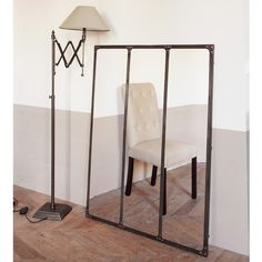 CARGO rust effect metal mirror H 120cm