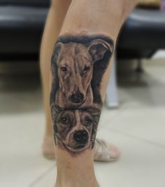 ilario tatuagem   realismo preto e cinza black in gray  dog tattoo