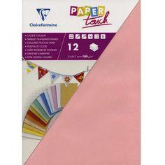 Papier calque couleur Paper Touch A4 Rose pâle x 12 feuilles - Photo n°1