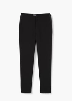 Contrast trims trousers - Trousers for Woman   MANGO