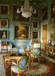 The Turquoise Drawing Room At Castle Howard Now Red Thanks To Funds Received For