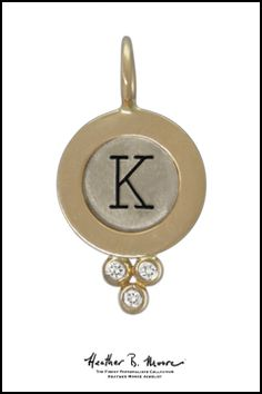 "Heather B. Moore Silver & Gold Diamond ""K"" Charm, $905.00"