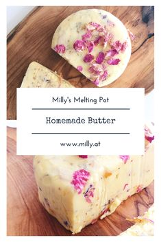 Homemade garlic butter with wild flower petals - Milly's Melting Pot Easy Healthy Recipes, Low Carb Recipes, Homemade Garlic Butter, Good Food, Yummy Food, Indian Foods, Diy Recipe, Fresh Bread, Melting Pot