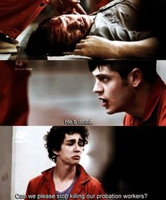 """Misfits """"Can we please stop killing our probation workers ?"""" Story of this TV show Nathan Misfits, Misfits Tv Show, Misfits Series, Misfits Simon, Misfits Quotes, Mis Fit, Iwan Rheon, Robert Sheehan, Fandoms"""