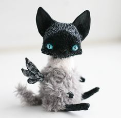 Fantasy | Whimsical | Strange | Mythical | Creative | Creatures | Dolls | Sculptures | ☥ | flying cat by da-bu-di-bu-da on deviantART