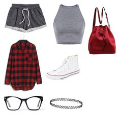 """""""Dance/sports outfit"""" by theratchetdragon on Polyvore featuring H&M, Madewell, Converse, Spitfire, women's clothing, women, female, woman, misses and juniors"""