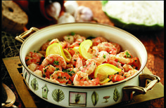 When I was accepted to college, the whole family gathered at Grandma's for a #Shrimp #Scampi celebration. #seafood
