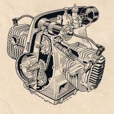 Silnik motocykla Zündapp K 500 W