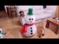 Boneco de Neve feito de Copos Plásticos - YouTube