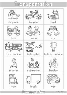 My Dictionary {color and black & white}. An A-Z and thematic vocabulary dictionary that can be used as a personal dictionary for each student or in the writing center!