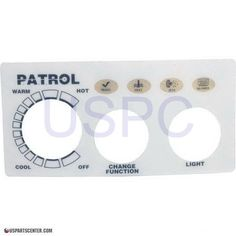 Faceplate Label 2-Button, Patrol Spa Side