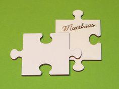 """Dieses Puzzleteil ist als Erweiterung des Hochzeitssets """"Puzzle"""" und natürlich auch einfach so verwendbar! Die Knubbel und Löcher sind gleich geformt, so dass sich die Teile der gleichen Größe..."""