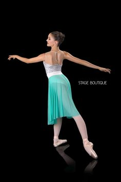 Slow Modern Dress - Shimmer Dance Costume - Lyrical Leotard & Skirt Set