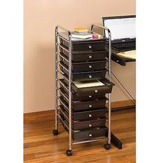 Craft Carts 146400: Chrome Metal Frame And 3 Semi Transparent Multi Color Drawer  Plastic Portable  U003e BUY IT NOW ONLY: $52.81 On EBay!