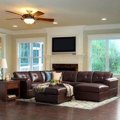leder eckgarnitur sofa couch eckcouch leder dunkelbraun. Black Bedroom Furniture Sets. Home Design Ideas