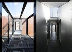 casa oruga: shipping container home snakes across the andes--a patinated configuration of recycled shipping containers that responds to the mountains. Converted Shipping Containers, Shipping Container Homes, Recycling, Architecture, Container Houses, Snakes, Furniture, Tower, Design