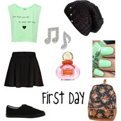 """""""First day of school idea"""" by prisicllamiranda on Polyvore"""