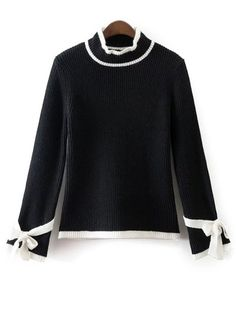 SHARE & Get it FREE | Bowknot Sleeve Mock Neck JumperFor Fashion Lovers only:80,000+ Items • New Arrivals Daily Join Zaful: Get YOUR $50 NOW!