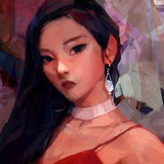 samuelyounart - Student, Digital Artist | DeviantArt Comics Illustration, Illustrations, Snow Girl, Red Velvet Joy, Peek A Boos, Portrait Art, Portraits, Artist Art, Disney Art