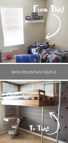 Your child deserves a one-of-a-kind bedroom. Check out this DIY shiplap accent wall from Ashley, of Simply Designing, for a unique way to add style to your kid's bedroom. Ashley painted her shiplap wall with a shade of Iron Mountain. Then, she added wall grips to turn it into a DIY indoor climbing wall! Click here for the full tutorial.