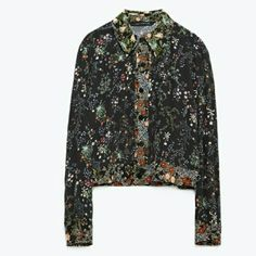 Zara Floral Top  size S In almost perfect condition , tags cut out barely worn maybe twice at most, floral unlined,  blouse or jacket, could fit small or medium Zara Tops