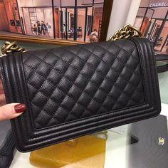 Best Authentic Quality Chanel Caviar Boy Bag With Gold Hardware Medium Size Trendy Handbags, Chanel Caviar, Brand Packaging, Chanel Boy Bag, Gold Hardware, Dust Bag, Branding Design, Stylists, Shoulder Bag