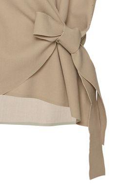 Sleeveless Wrap Knot Shirt by J.W. Anderson for Preorder on Moda Operandi