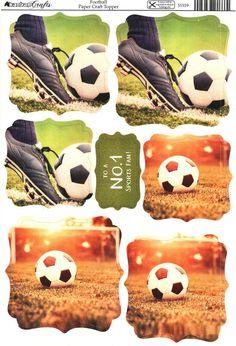 Kanban Interests and Hobbies - Football - die cut paper craft toppers