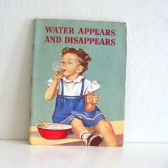 Vintage Childrens Book 1950s Water Appears and by ismoyo on Etsy