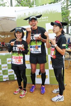 Runners dressed as cows promote New Zealand grass-fed beef to the crowds at the Naha Marathon Naha, Grass Fed Beef, Cows, Marathon, New Zealand, Runners, Marketing, The Originals, People