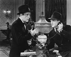 """Humphrey Bogart y James Cagney en """"Ángeles con caras sucias"""", 1938"""