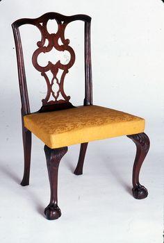 Side Chair; 1765-1785.  Unknown maker; Boston or Salem.  (1956.0052)