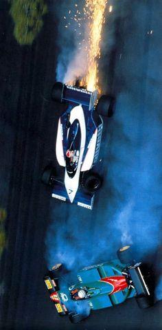 Riccardo Patrese   Nelson Piquet (Monaco 1985)