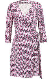 Diane von Furstenberg Julian printed cotton and silk-blend jersey wrap dress