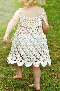 Wind Dancer Crochet Pattern Sundress Sizes 6 mos by CrochetGarden Crochet Girls Dress Pattern, Crochet Toddler Dress, Toddler Dress Patterns, Baby Girl Crochet, Crochet Baby Clothes, Crochet For Kids, Crochet Patterns, Skirt Patterns, Newborn Crochet