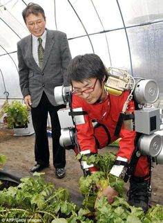 The Tokyo University of Agriculture and Technology has developed an agriculture robot suit tailored to the 40% of Japan's farm workers who are over the age of 65