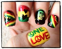 26 Best Ideas For My Sweet 16 Images Rasta Nails