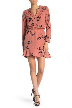3eade0593441 $250 JOIE ACEY FLORAL PRINT A LINE MINI DRESS IN DUSTY ROSE PINK SIZE  MEDIUM #fashion #clothing #shoes #accessories #womensclothing #dresses  (ebay link)