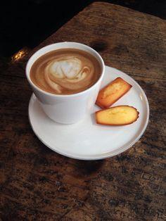 Coffee tastes best with Madeleines