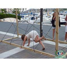 Cage à élastiques - Jeu géant bois - Alortujou